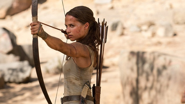 Alicia Vikander as Lara Croft in the new 'Tomb Raider' reboot