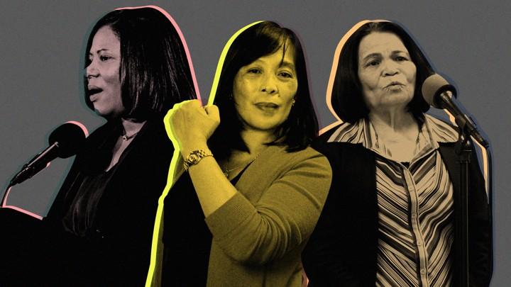 A collage of Natalicia Tracy, Judith Daluz, and Nena Ruiz
