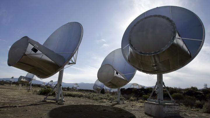 A field of radio telescopes