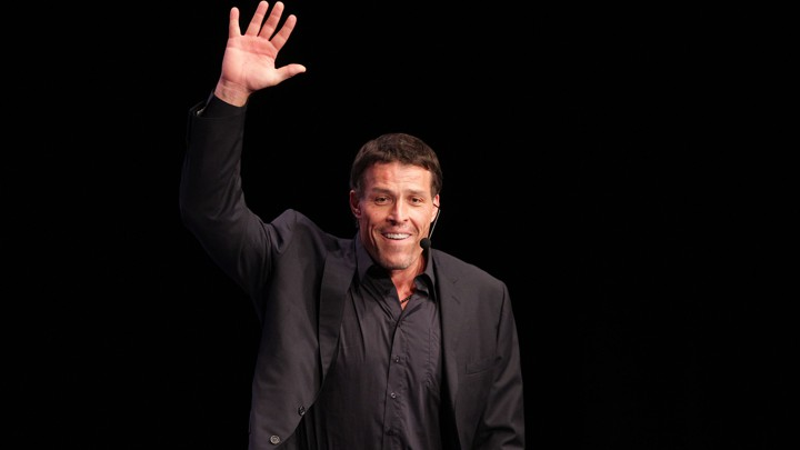 Tony Robbins speaks during the Women's Conference at the Long Beach Convention Center on October 25, 2010, in Long Beach, California