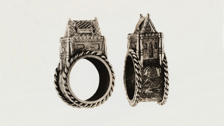 An antique Jewish wedding ring