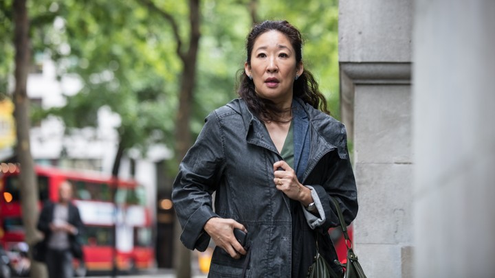 Sandra Oh stars as Eve Polastri in Phoebe Waller-Bridge's new BBC America drama 'Killing Eve'