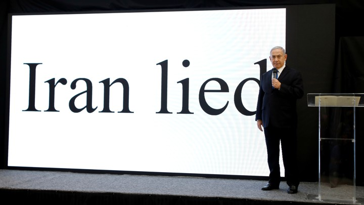 Image result for netanyahu iran presentation