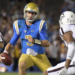 UCLA Bruins quarterback Josh Rosen during a game against Texas A&M
