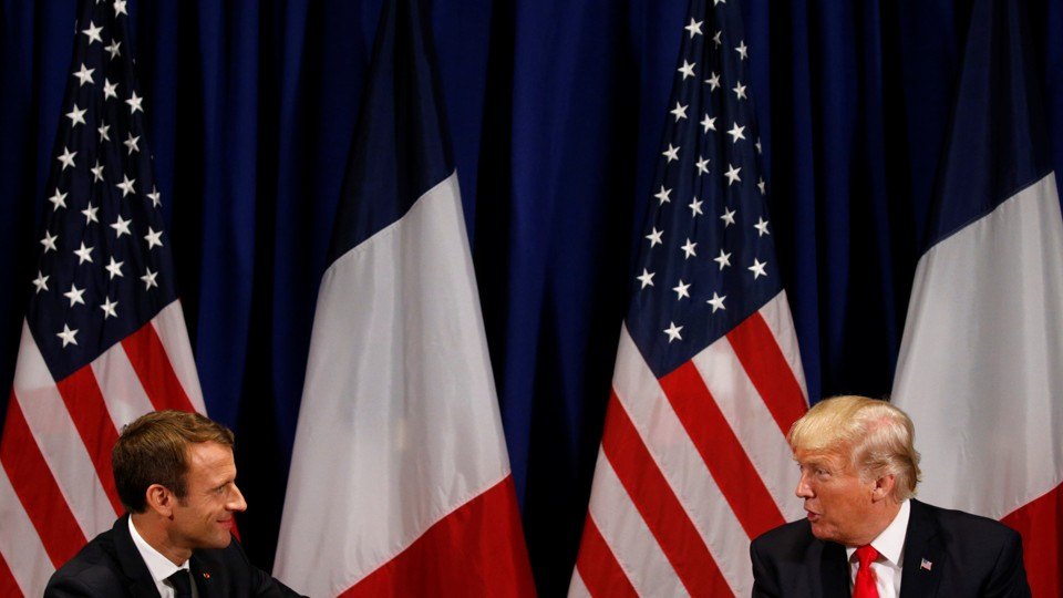 French President Emmanuel Macron and U.S. President Donald Trump