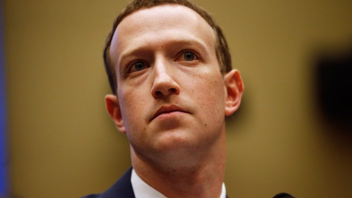 Mark Zuckerberg testifies at a congressional hearing.