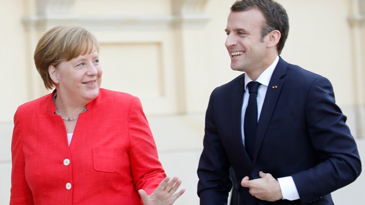 German Chancellor Angela Merkel and French President Emmanuel Macron
