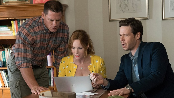 John Cena, Leslie Mann, and Ike Barinholtz in 'Blockers'