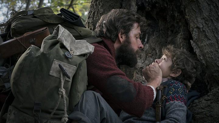 John Krasinski and Noah Jupe in 'A Quiet Place'