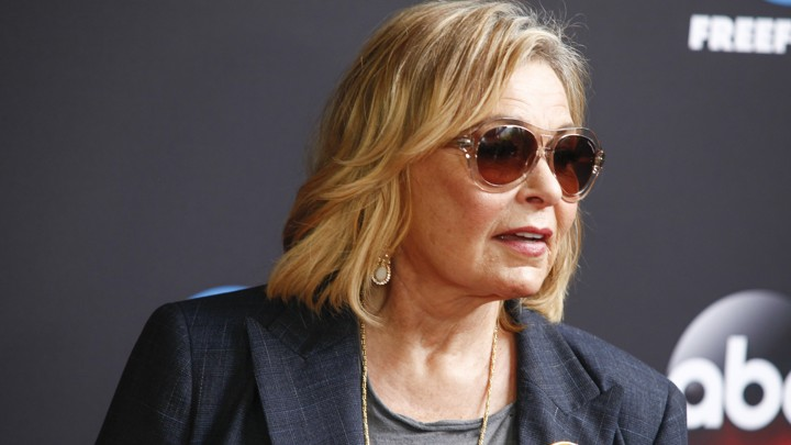 Roseanne Barr wearing sunglasses