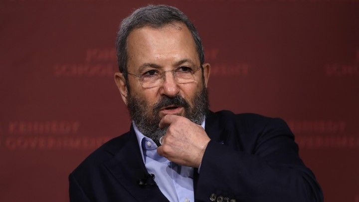 Former Israeli Prime Minister Ehud Barak speaking at Harvard