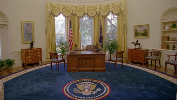 The Oval Office, shown in 1993