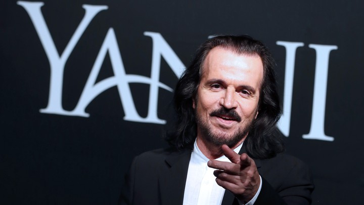 Yanni, the composer, points