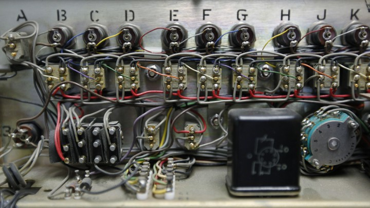 A series of circuits and wires labeled with the letters of the alphabet