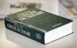 A battered copy of 'The Macquarie Concise Dictionary'