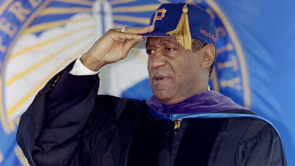 Bill Cosby wearing commencement dress