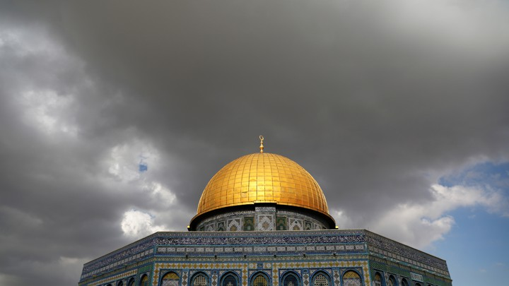 Clouds gathering over the Dome of the Rock