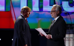 Donald Trump and Wolf Blitzer