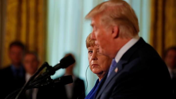 President Trump and German Chancellor Angela Merkel