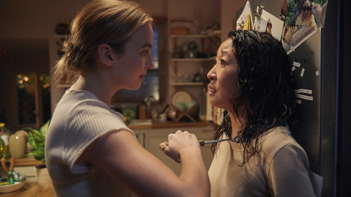 Villanelle (Jodie Comer) and Eve (Sandra Oh)