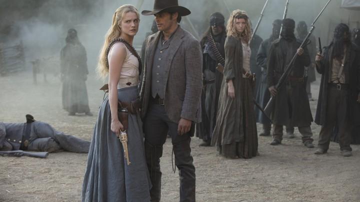 Evan Rachel Wood and James Marsden in 'Westworld'