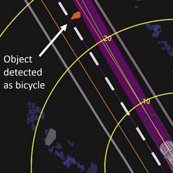 A diagram of the fatal collision between an Uber self-driving car and a pedestrian in Tempe, Arizona