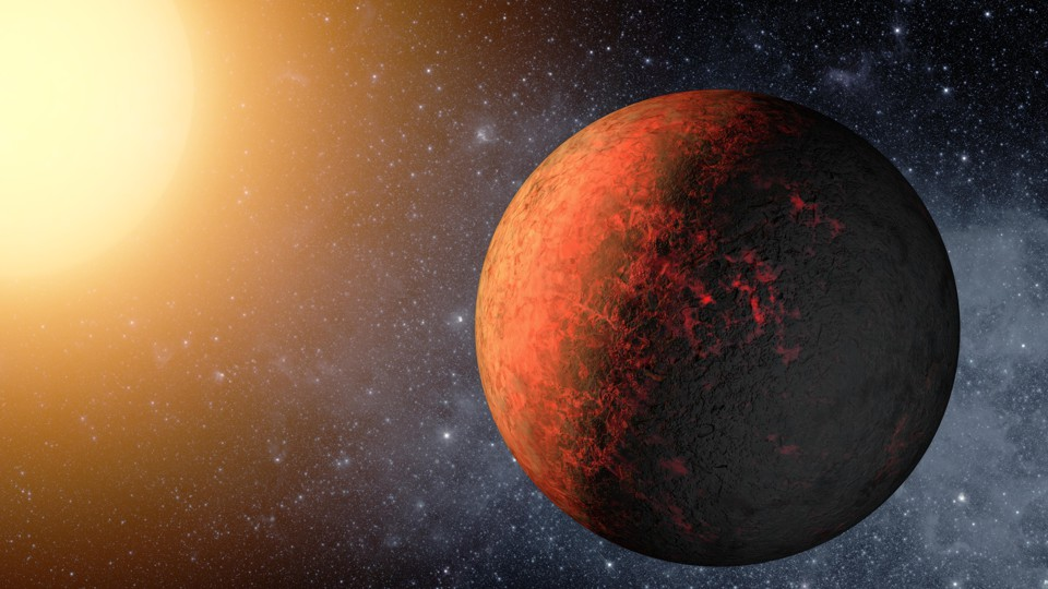 Artist's rendition of the exoplanet Kepler-20e