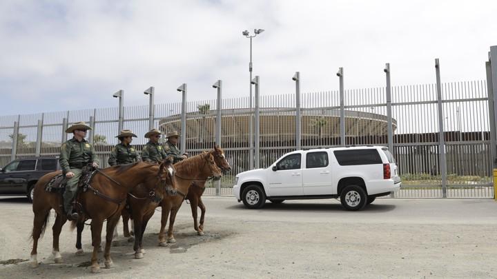 Border Patrol agents near Tijuana, Mexico