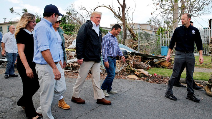 Brock Long and Donald Trump in Puerto Rico