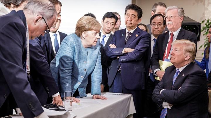G7 Merkel Photo More Meme Than Masterpiece The Atlantic