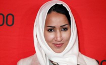 Saudi activist Manal al-Sharif arrives to be honored at the Time 100 Gala in New York in 2012.