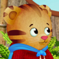 Daniel Tiger makes noisemakers with Katerina Kittycat.