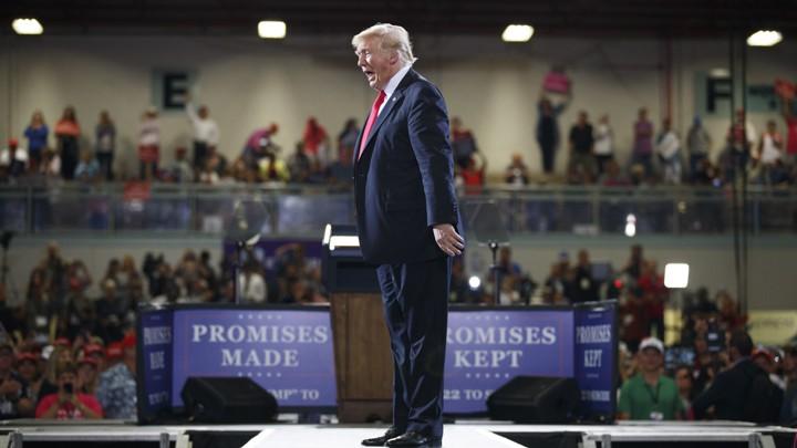 Trump at a rally