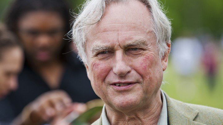 "Richard Dawkins speaks to supporters during the ""Rock Beyond Belief"" festival in North Carolina in 2012."