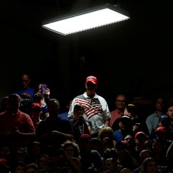 Donald Trump Supporters At A Rally In Elkhart Indiana May 2018