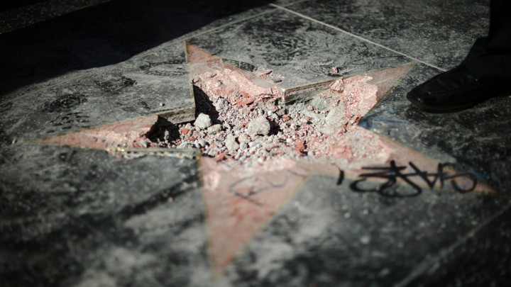 Donald Trump's vandalized Hollywood Walk of Fame star