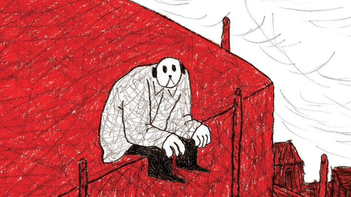 An image from the cover of Jérôme Ruillier's graphic novel 'The Strange'