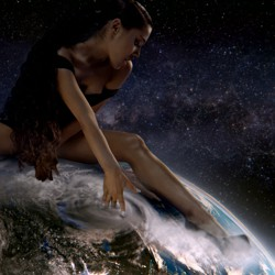 Ariana Grande sits astride the world for 'God Is a Woman'