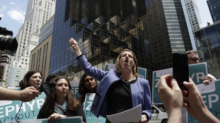 e90a27093acd Zephyr Teachout launched her campaign for New York state attorney general  outside of Trump Tower in JuneMark Lennihan / AP