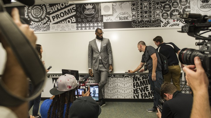 wholesale dealer aee68 27bb4 LeBron James at the opening ceremony for the I Promise School in Akron,  OhioPhil Long   AP