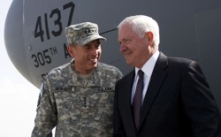 David Petraeus and Robert Gates