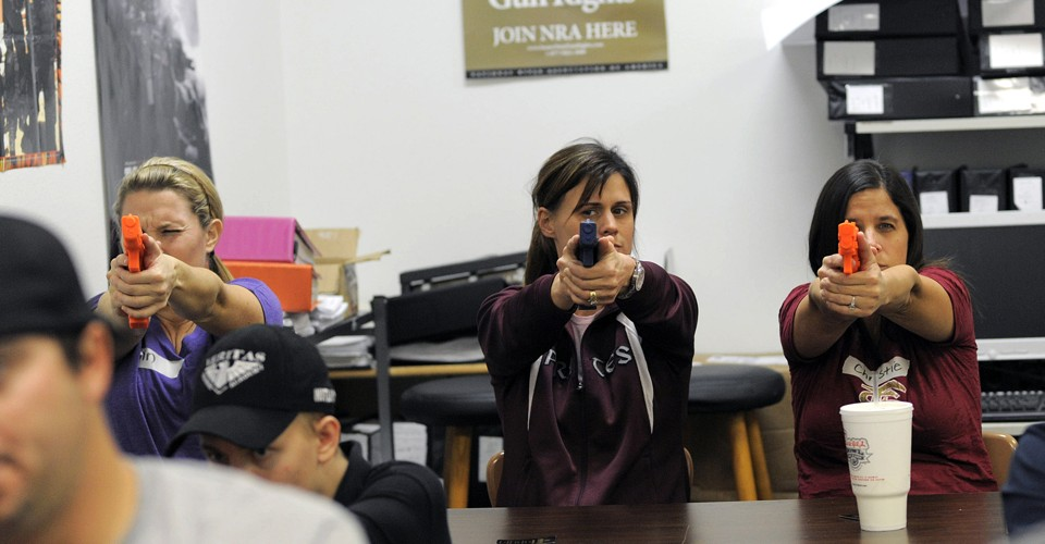 A Loophole That Could Let States Buy Teachers Guns With Federal Funds