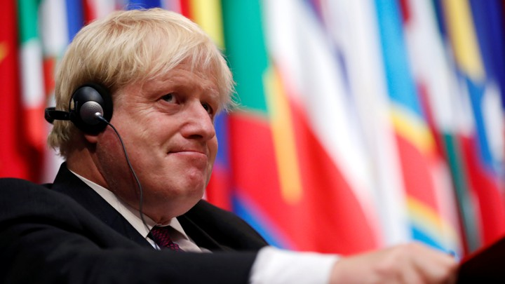 Former British Foreign Secretary Boris Johnson pictured in The Hague on June 26, 2018