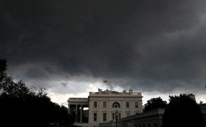 A storm builds over the White House