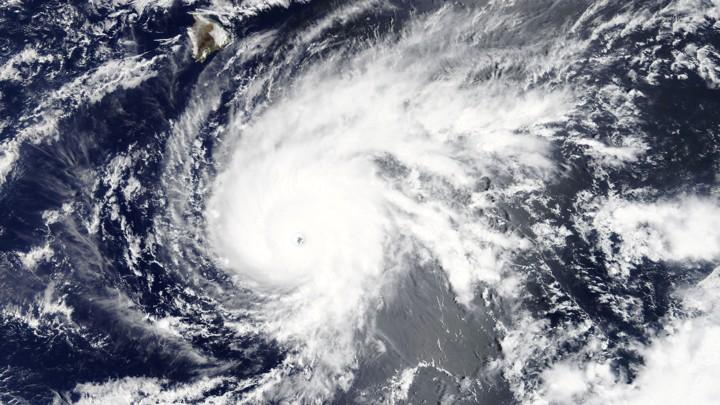 A hurricane map