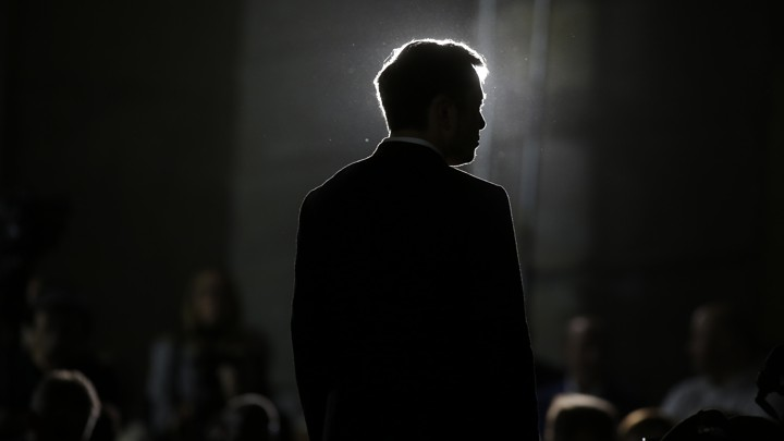 The silhouette of Elon Musk