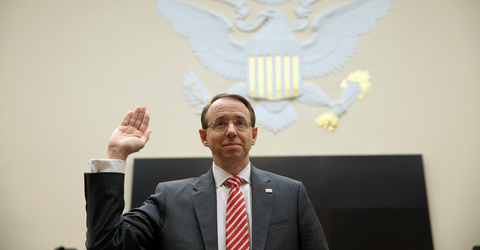 Rod Rosenstein's Departure Is a National Emergency - The ...