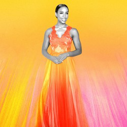 A photoillustration of Kelly Rowland