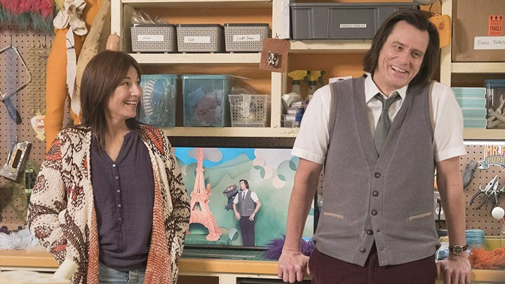 Catherine Keener and Jim Carrey in 'Kidding'