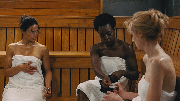 Michelle Rodriguez, Viola Davis, and Elizabeth Debicki in 'Widows'